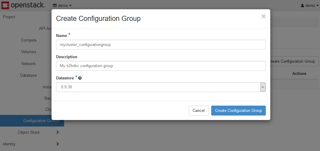 Create Configuration Group